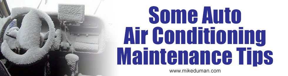 Some Auto Ait Conditioning Maintence Tips