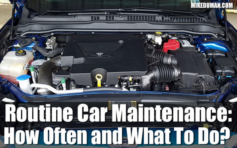 Routine Car Service And Maintenance Schedule